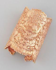 lace cuff in rose gold