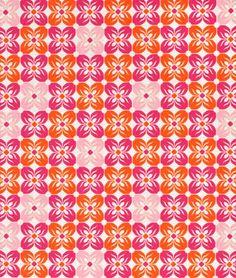 Joel Dewberry Square Petals Tangerine Fabric - $9.35 | onlinefabricstore.net
