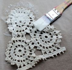 Mod podge and lace |