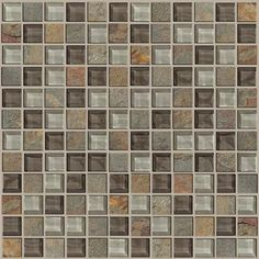 """Shaw Floors Mixed Up 1' x 1"""" Slate Mosaic Tile in Pikes Peak"""