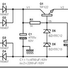 Electronic circuit of SMPS Power Supply power output up to 350W