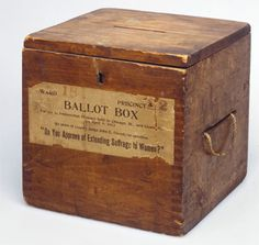 - Ballot box regarding women's suffrage