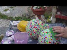 Wir zeigen euch hier, wie ihr eure Gartenkugeln aus Plaste oder Beton mit einem tollen Mosaik versehen könnt. Kaufen könnt ihr die Mosaiksteinchen unter: htt...