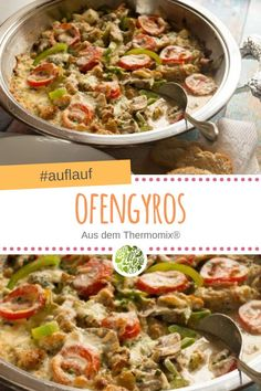 Oven gyros from Thermomix® - will-mixen.de - With this hearty oven gyros recip. - Oven gyros from Thermomix® – will-mixen.de – With this hearty oven gyros recipe from your The - Salad Recipes Healthy Lunch, Chicken Salad Recipes, Easy Healthy Recipes, Healthy Cooking, Beef Recipes, Cooking Recipes, Healthy Lunches, Salads For A Crowd, Easy Salads