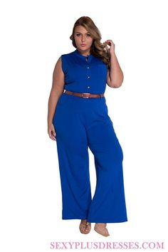 8b85243630c 2017 Fashion Long Jumpsuits For Women Solid Blue Belted Boot Cut Rompers  Womens Jumpsuit 2017 Summer Overalls Playsuits