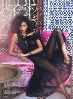 Carla Bruni Enjoys the 'Road to Marrakech' Lensed By David Bellemere For Elle US September 2015