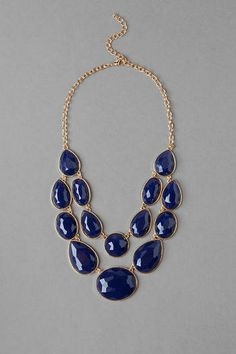 Parkville Double Strand Jeweled Necklace to wear with Ladera Printed Maxi
