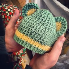 First baby hat - freeform crochet