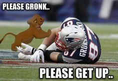 How we all felt Sunday night, but he is on the mend! GRONK the Great