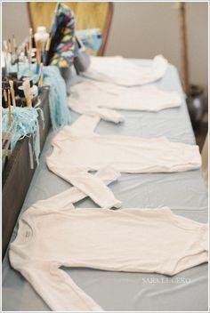DIY onesie decorating baby shower