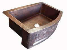 Rounded Apron Front Farmhouse Kitchen Mexican Copper Sink