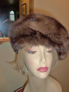 Christian Dior  Vintage Mink Hat  CHAPEAUX by VintageColleciones, $395.00