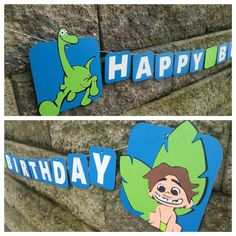 The Good Dinosaur Disney Pixar Party Decor. Dinosaur Birthday Banner. Check out this item in my Etsy shop https://www.etsy.com/listing/250906394/the-good-dinosaur-dinosaur-birthday