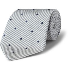 Paul Smith Shoes & Accessories Stripe and Spot-Patterned Silk Tie | MR PORTER