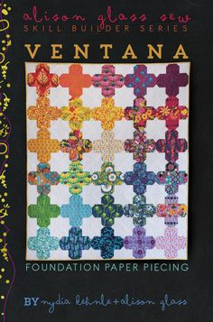 This is a kinda cool variation of a plus quilt. I really don't think it'd have to be paper pieced, though