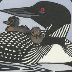 COMMON LOON blank bird greeting card von AnagramPress auf Etsy, $3.50