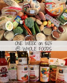 Feed a Family on $125 from Whole Foods