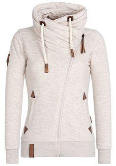 Naketano sweat jackets for women NAKETANO Jedi Path - Sweat Jacket for Women - Khaki/Beige - Planet Hoodie Sweatshirts, Hoodies, Look Fashion, Urban Fashion, Winter Fashion, Best Leather Jackets, Jackets For Women, Clothes For Women, Winter Wear