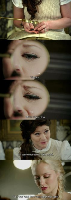 I love the Belle has become the Hermione of Storybrooke.  Its so fun to see them go to her for information