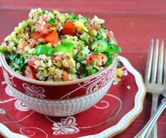 This is so good! You should try this one! @Paula Massey  Costco Quinoa Salad. Photo by May I Have That Recipe