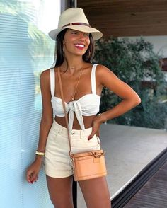 (notitle) - Sexy Women and Fashion - Outfit Outfits With Hats, Short Outfits, Trendy Outfits, Fashion Outfits, Womens Fashion, Cute Beach Outfits, Summer Outfits, Holiday Outfits, Ladies Dress Design