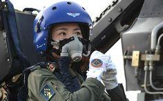 Yu Xu, a member of China's Bayi Aerobatic Team, in 2014