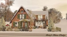 Christmas Cottage by Rubi Red - Sims 3 Downloads CC Caboodle