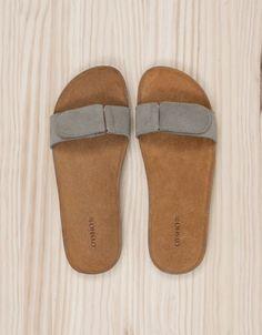 Bio sandals with hide uppers - Beachwear Indigo -