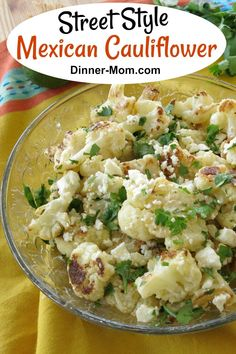 Mexican Street Style Cauliflower is a low-carb, keto alternative to elote. Start with FROZEN cauliflower to make this addictive side dish that everyone will love! Mexican Side Dishes, Mexican Dinner Recipes, Keto Side Dishes, Low Carb Dinner Recipes, Side Dish Recipes, Mexican Desserts, Meatless Recipes, Freezer Recipes, Freezer Cooking