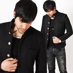 New-Stylish-Mens-Mod-Casual-Fashion-Tops-Tough-chic-Poly-Japanese-Gakuran-Jacket