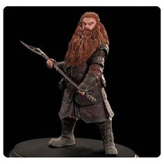 Sculpted by artist Greg Tozer to an exacting likeness of the character played by Peter Hambleton in the movie, it's The Hobbit An Unexpected Journey Gloin the Dwarf 1:6 Scale Statue! This polyresin statue measures 9 1/10-inches tall x 9 1/10-inches wide including base, and it's a limited edition of 1,000 pieces.