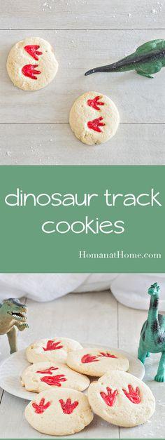 Dinosaur Track Cookies | Homan at Home