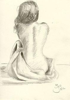 Back Drawing, Girl Drawing Sketches, Art Drawings Sketches Simple, Pencil Art Drawings, Cool Drawings, Art Sur Toile, Art Sketchbook, Erotic Art, New Art