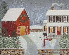 Winter Welcome Print By Mary Charles