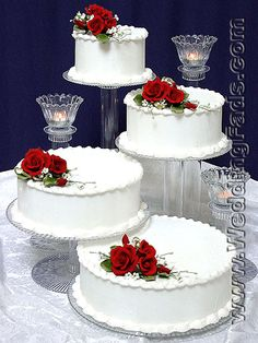 Crystal Cascading Cake Tiers — Wedding cake stands crafted in the U. Bling Wedding Cakes, Wedding Cake Pearls, Wedding Cake Red, Square Wedding Cakes, Wedding Cake Stands, Wedding Cake Decorations, Beautiful Wedding Cakes, Wedding Cake Designs, Beautiful Cakes