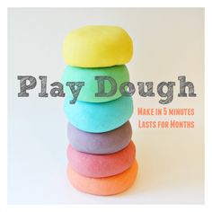 Super soft, non sticky, easy and cheap to make and lasts for months in the fridge... what more you you ask for of a play dough recipe?