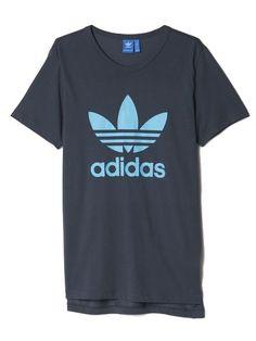 adidas ES Trefoil Tee - Utility Blue – West Brothers #adidas #trefoil #tee