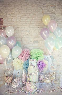Pastel balloon colors, gorgeous color combo