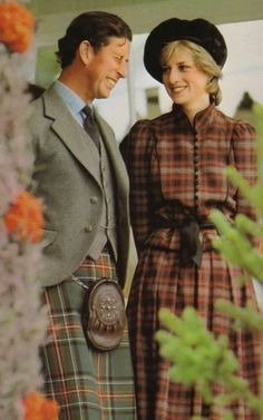 September 5, 1981:Prince Charles & Princess Diana pictured at the Highland games at Braemar, their first public outing together since their wedding.