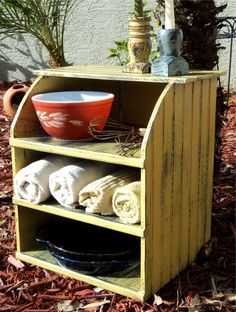 Primitive Pie Display And  Kitchen Storage, Rustic Farmhouse Chic, Plate And Towel Holder by TheSavvyShopper1 on Etsy https://www.etsy.com/listing/112061603/primitive-pie-display-and-kitchen