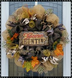 Gone hunting! Fantastic deco mesh wreath for the hunter in your life. Camo Wreath, Hunting Wreath, Deco Mesh Wreaths, Fall Wreaths, Craft Projects, Projects To Try, Craft Ideas, Adhd Kids, Wreath Ideas