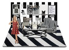 """Let Me Present You: Monochrome Living Room!"" by farrahdyna ❤ liked on Polyvore featuring interior, interiors, interior design, home, home decor, interior decorating, House Doctor, Phil Bee Interiors, Pier 1 Imports and T.H. Robsjohn-Gibbings"