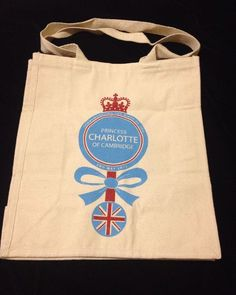 Princess Charlotte Diana Royal Baby Tote Bag Whole Foods Cambridge UK New Cotton #WholeFoods