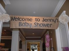 Girl Baby Shower Welcome Banner!