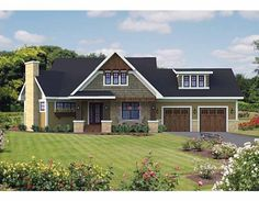 Traditional House Plan with 1857 Square Feet and 3 Bedrooms from Dream Home Source | House Plan Code DHSW75605