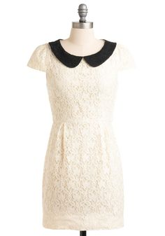 Violin Recital Dress. For your classical string band's annual performance, you want to wear something that will fit the sublime sound of your much-anticipated solo. #white #modcloth