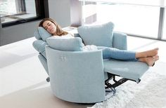 Fama Moonrise Swivel Recliner Chair
