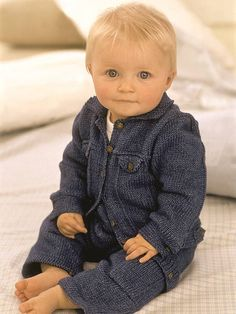 Baby denim knitting pattern