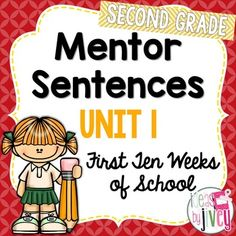 Mentor sentences are the perfect way to teach grammar and author's craft through examples of excellent sentences from your favorite read-aloud books! Mentor sentences can absolutely be done with first and second graders, too! Vocabulary Activities, Interactive Activities, Reading Activities, Interactive Notebooks, Second Grade Writing, Second Grade Teacher, Handwriting Lines, Handwriting Practice, Mentor Sentences