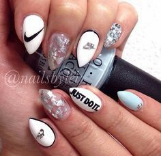 These r some super chic nike nails